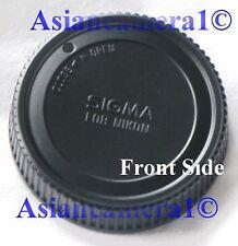 Genuine Original Sigma Rear Lens Cap For Nikon Japan Dust Safety Twist-on OEM
