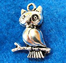 10Pcs. Tibetan Silver OWL Bird  Charms Pendants Earring Drops Findings BD28