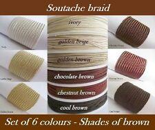 Original Soutache Russia Braid Cord 6 colours x 1, 2, 5 metres 100% viscose 3mm
