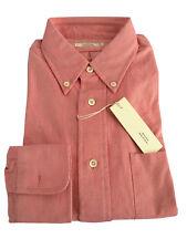 MAURO GRIFONI camisa Oxford hombre 100 % algodón Rosa MADE IN ITALY con bolsillo