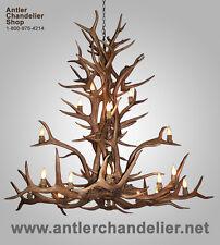 FAUX/RESIN ANTLER ELK CASCADING CHANDELIER, 16-20 LTS, RUSTIC LAMPS CR14