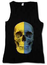 Classic Ucraina Skull Flag donna Tank Top Banner bandiera bandiera UKRAIN
