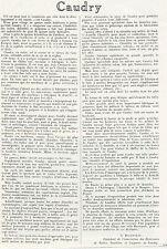 59 CAUDRY PAR G.DASSONVILLE 1923