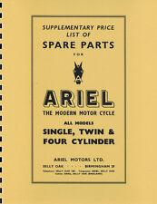 Ariel 650 CC Twin ~ Huntmaster ~ Model FH ~ Parts Manual ~ 1954 ~ Reprnt