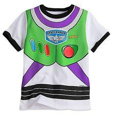 Disney Store Toy Story Buzz Lightyear Costume Short Sleeve T Shirt Boy Size 5/6