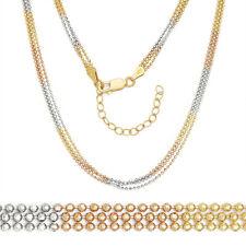 17c5b4880eac Mujer Elegante Italia 14K Amarillo Oro Rosa Plata 925 Cuenta Eslabón Cadena