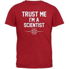 Trust Me Im A Scientist Red Adult T-Shirt