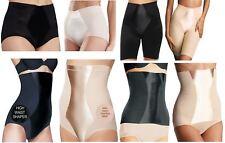 Ladies womens control wear shapewear satin tummy firm underwear leg