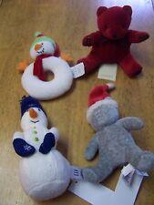 NWT Gap Ralph Lauren Infant boy or Girl CHRISTMAS Snowman Bear  Rattle Toy