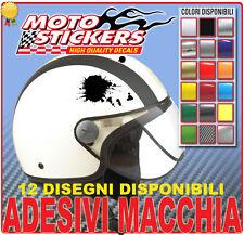 2 adesivi macchia uso casco moto auto - tuning decal stickers spedizione gratis