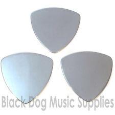 Tres Acero Inoxidable De Calidad Guitar Picks plectrums 0,25 mm o 0,5 Mm