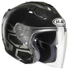 HJC FG-JET - jethelm moto - nero argento