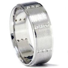 3/8ct Mens 14K White Gold Diamond Wedding Ring Band