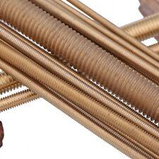 2mm-20mm Solid Brass All Threaded Rod Bar Studs Screw Arbor 250mm/500mm Length
