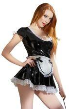 Servierkleid Kellnerin Maid Servierset Magt Dienstmädchen Lack Kleid