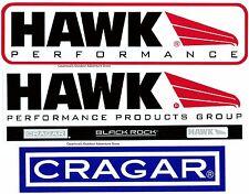 HAWK PERFORMANCE PRODUCTS GROUP BRAKES-CRAGAR RIMS/WHEELS-BLACK ROCK STICKER!