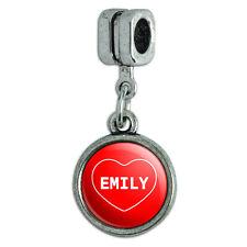Italian European Style Bracelet Charm Bead I Love Heart Names Female E Elys