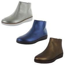 Fitflop Womens Ziggy Zip Sheer Metallic Leather Boots