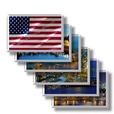 US - Stati Uniti d'America - frigo calamite da frigorifero souvenir magneti