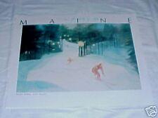 Maine Poster Willard Goodman Night Skiing Lost Valley