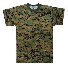 Woodland Digital Camo Military Digital Camouflage T-Shirt 6494 Rothco