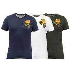 Hommes t shirt brave soul patches insignes camouflage militaire à manches courtes top nouveau