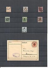 Württemberg 1906, Einzelwerte ex Michelnrn: Dienst 104 - 226 o, gestempelt o