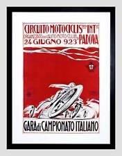 Lo SPORT MOTO RACE CHAMPION PADOVA ITALY VINTAGE Framed Art Print b12x2826