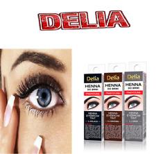 NEW Delia Eyebrow HENNA Traditional Tint Brown Black Graphite Eyelashes 2ml