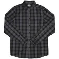 Wesc Eric Check Denim Long Sleeve Shirt Nero Hombre