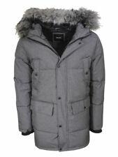 Donna Karan DKNY Men's Water Resistant Zip Front Hooded Parka Jacket
