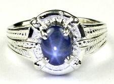 Blue Star Sapphire, 925 Sterling Silver Ring, SR284-Handmade