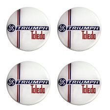Triumph Toledo Leyland Logo Self Adhesive Set of 4 Gel Wheel Centres