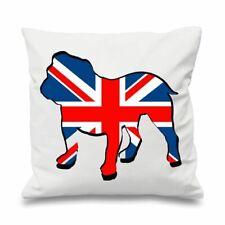 """British Bulldog Union Jack 18"""" x 18"""" Filled Sofa Throw Cushion"""