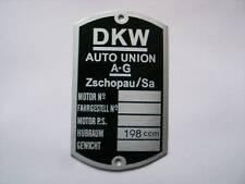 DKW 198 cm Auto Union a-G Zschopau sa TARGA NUOVO