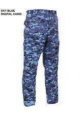 DIGITAL Blue Camo BDU Cargo Pants KC Royals Colts Panthers Giants UNC LA Dodgers