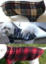Hunde Fleece Pulli am Rücken öffnen Classic Kariert weich warm  klkxde