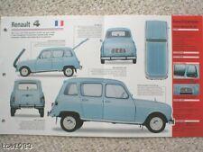 1965 RENAULT 4-L, 4L SPEC SHEET/Brochure/Prospek/Flyer