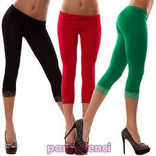 Leggings leggin top capri de mujer calzas corto encaje mallas CC-143