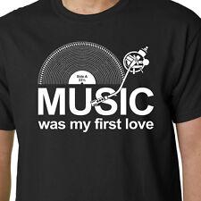Música fue mi primer amor T-shirt Lp Discos Dj Tornamesa Vinilo lema Cumpleaños