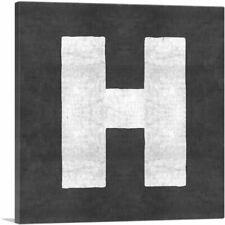 ARTCANVAS Chalkboard Alphabet Letter H Canvas Art Print