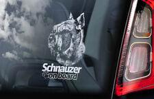 Schnauzer on Board - Car Window Sticker - Standard Dog Sign Decal Art Gift - V04