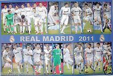 "REAL MADRID ""18 ACTION SHOTS OF 2011 TEAM PLAYERS"" FOOTBALL POSTER-Ronaldo, Kaka"