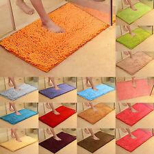 Bath Mats Shaggy Microfiber Absorbent Floor Shower Non-Slip Soft Bathroom Rug