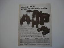 advertising Pubblicità 1977 BINOCOLI HOYA
