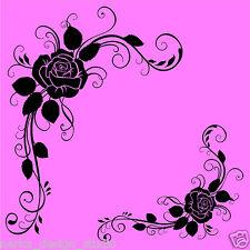 2 Flores Pegatinas De Pared De Esquina Vinilo de Pared Arte Calcomanía Flores Pegatinas De Pared n25