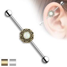 OPAL Industrial BAR Scaffold EAR Cartilage Helix Barbells Rings PIERCING JEWELRY