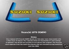 SUZUKI 1979 RM50 RM60 FUEL GAS TANK DECALS LIKE NOS
