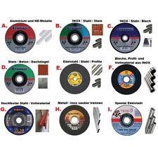 Große Trennscheiben Auswahl: Metall,INOX,Edelstahl,Guss,Aluminium,Stein,Beton...