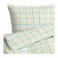 IKEA SOMMAR 2015 Quilt Cover Set, Bianco/Multi Check-King/doppio/singolo